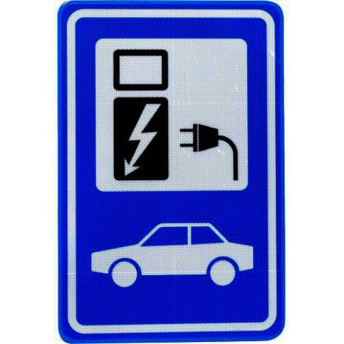 EV-Box Parkeerbord oplaadpunt elektrische auto 400x600mm